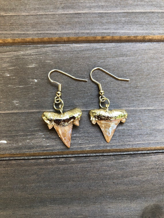 Small Shark Tooth Earrings