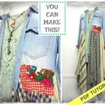 Sewing Pattern - Sewing Tutorial - Jacket Pattern - Sewing Class - Funky Clothing -Upcycled Clothing - Duster Pattern - DIY Pattern