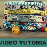 Jewelry Tutorial - Video Tutorial - Jewelry Making - Boho Bracelet -Boho Cuff - Bohemian Jewelry - Bohemian Bracelet