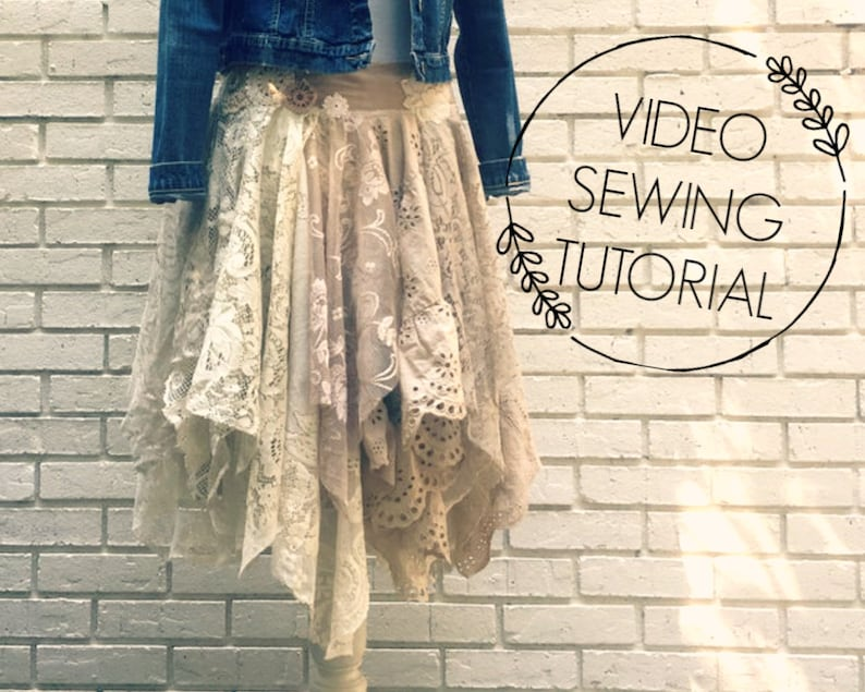 Lace Fairy Skirt Video Tutorial  with PDF Instructions  image 0