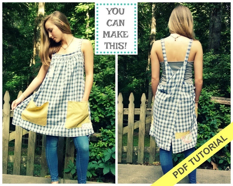 Apron Pattern  Sewing Tutorial  Sewing Patterns  Crossback image 0