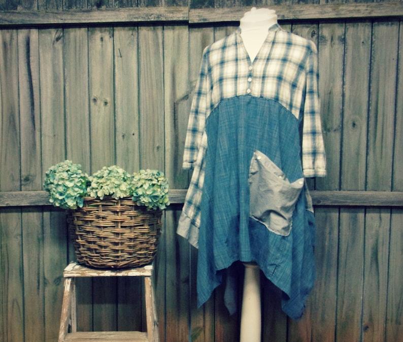 Long Boho Tunic Lagenlook Style Tunic Boho Chic Clothing image 0