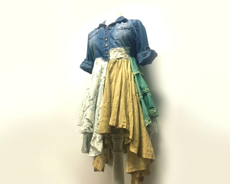 Long Bohemian Jacket  Mori Girl  Boho Jacket  Denim Jacket image 0