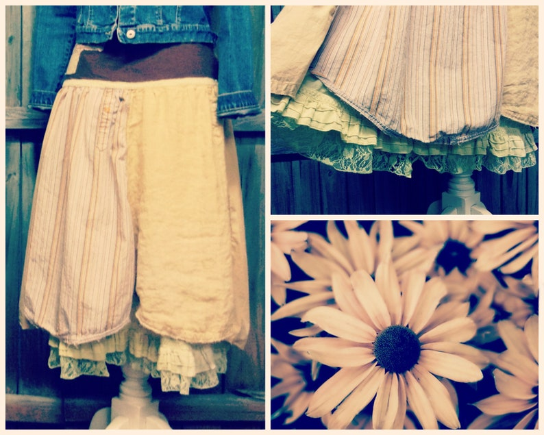 Mori Girl Shabby Chic Ruffle Skirt Boho Chic Clothing image 0