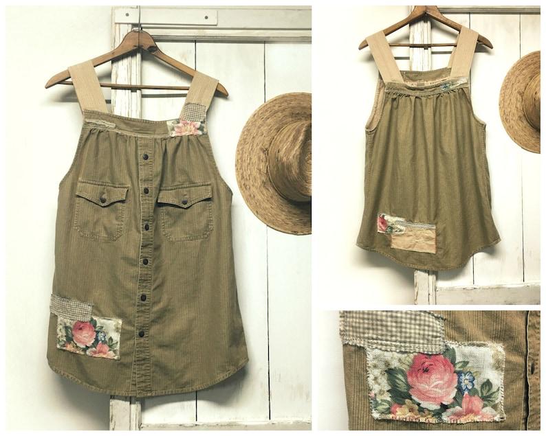 Upcycled Clothing  Apron Dress  Jumper Dress  Long Tunic  image 0