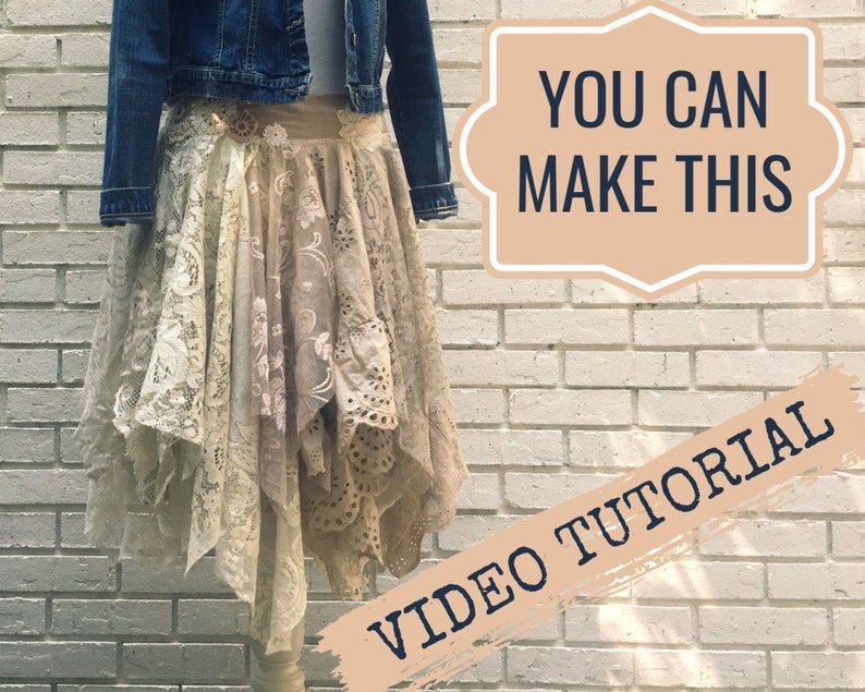 Lace Fairy Skirt Video Tutorial  Sewing Tutorial   Tattered image 0