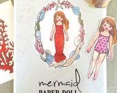 Mermaid Paper Doll Kit