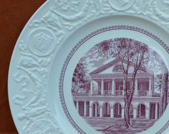 U.Va. Wedgwood Plates -- First Edition singles from 1940