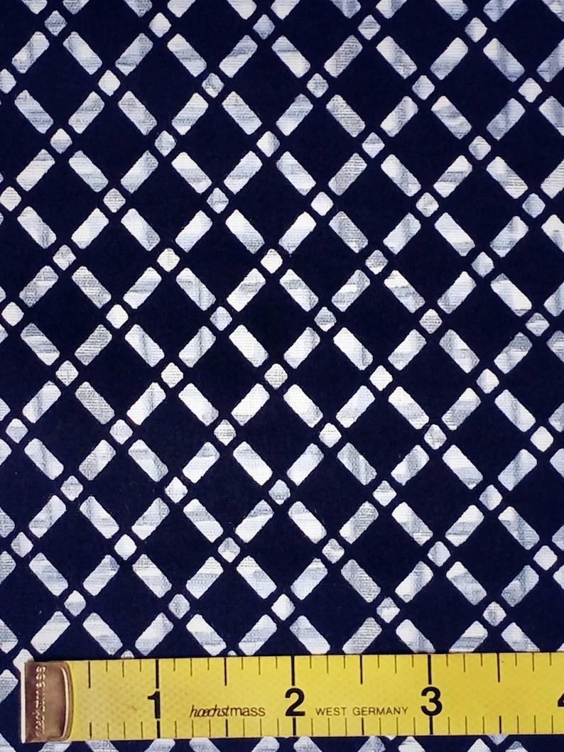 Geometric cotton yukata fabric Vintage Japanese kimono fabric