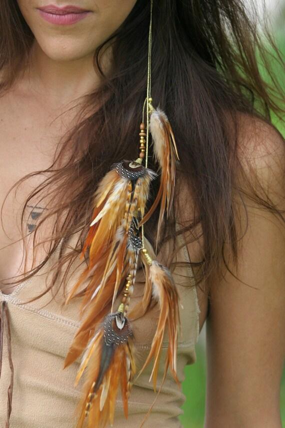 Native American Feather Earrings Hippie Earrings Long Etsy