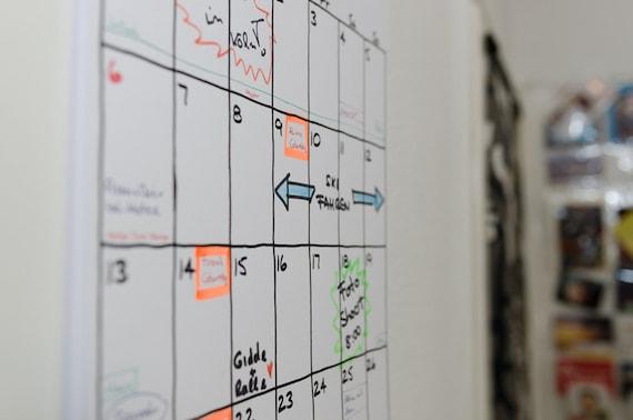 kalender a3 18 monate sketch etsy. Black Bedroom Furniture Sets. Home Design Ideas