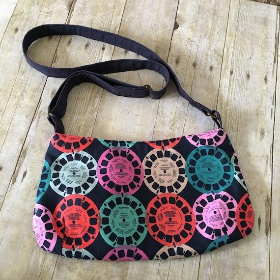 53f87ce640 Cross body purse Medium Cross body bag Vintage fabric bag