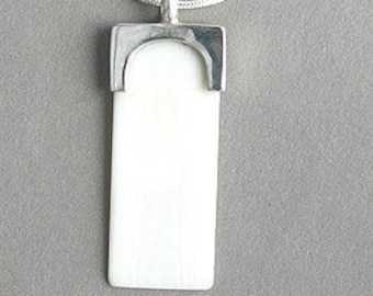 Imitation Ivory Piano Key Pendant