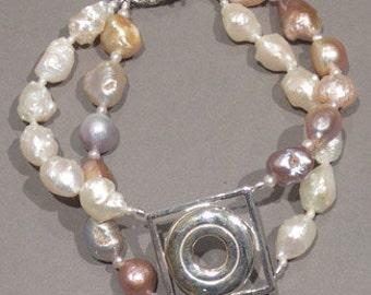Flute Jewelry, Sterling Silver Flute Key, Bracelet - Open Hole Pearl Bracelet Classical Music