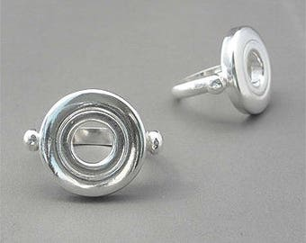 Flute Jewelry, Sterling Silver Flute Key, Ring - Open Hole Ring, custom sizing available