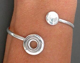 Flute Jewelry, Sterling Silver Flute Key, Bracelet - Open Hole Flute Key and Trill Flute Key Bracelet
