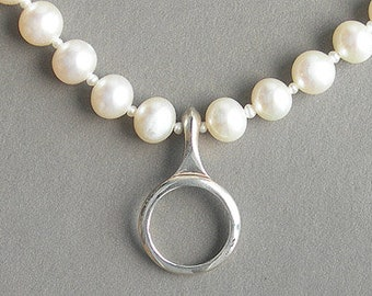 Clarinet Jewelry, Necklace, Sterling Silver - Key on Pearl Music Lover Necklace
