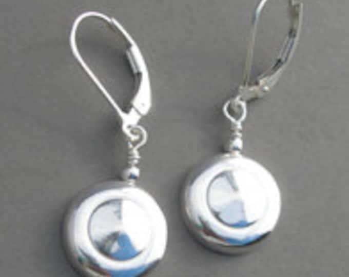 Flute Jewelry, Sterling Silver Flute Key, Earrings - Tiny Trill Flute Key Wire Earrings