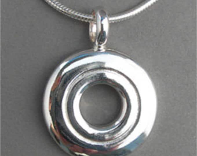Flute Jewelry, Sterling Silver Flute Key, Necklace - Open Hole Pendant (Unisex)