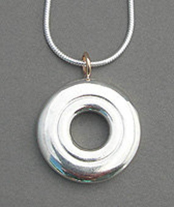 Simply Silver and Gold Pendant (Item: N113)