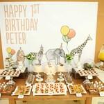 Animals party theme backdrop