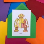 Tik-Tok from Return To Oz Card – A6 – Hand Drawn