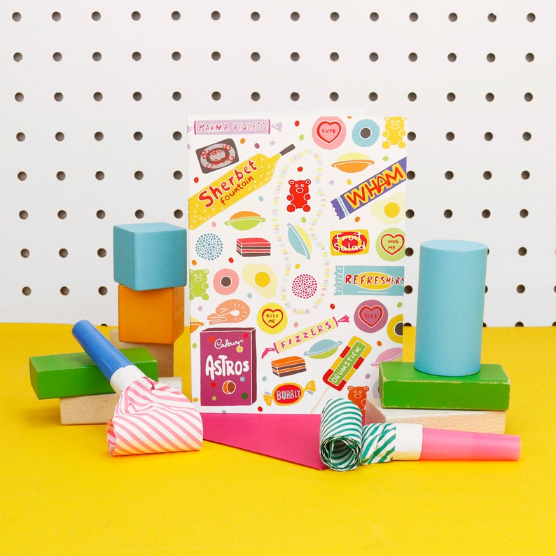 Retro Vintage Sweets Note Book image 0