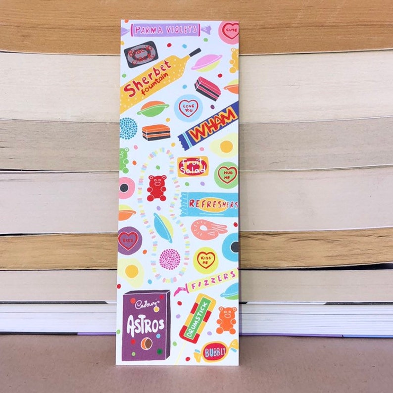 Retro Vintage Sweets Bookmark  Hand Drawn image 0