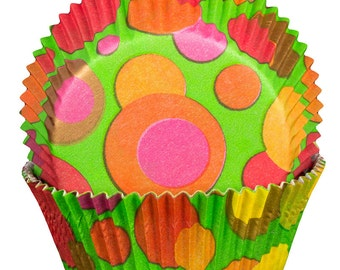 Bubble Green Cupcake Cases x60