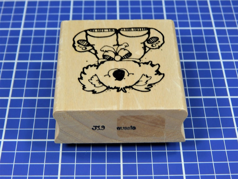 AUSSIE KOALA Rubber Stamp by Hook/'s Lines Inkers
