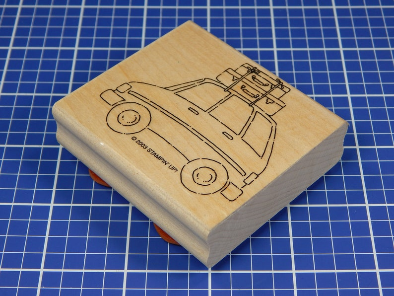 Mounted Rubber Stamp CAR and LUGGAGE Stampin/' Up!