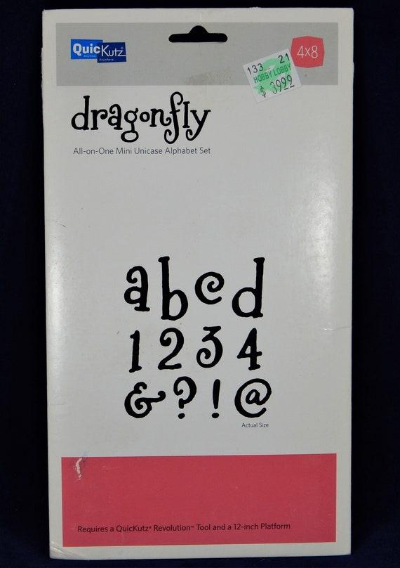 QUICKUTZ ALPHABET DRAGONFLY FONT