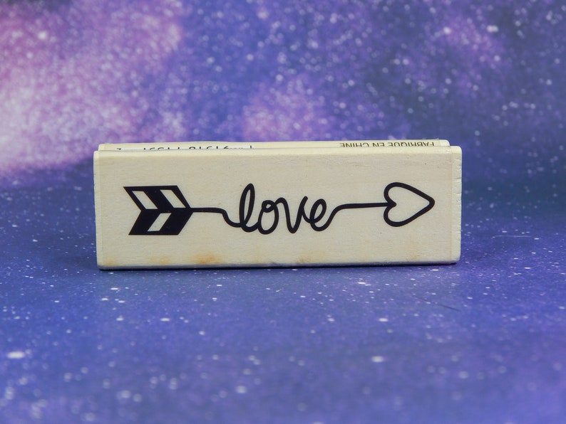Wood Mounted Rubber Stamp LOVE ARROW Craft Smart