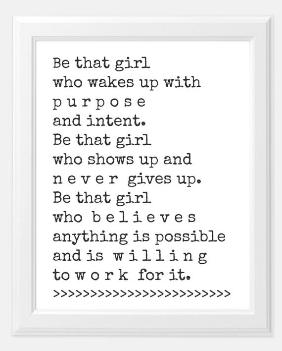 girl boss quote set goals print goals print 8x10 print matte print office artwork print custom prints