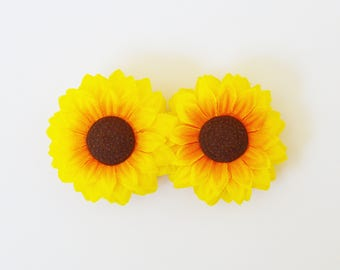 Double Sunflower Barrette - Spring and Summer Hair Accessories, Sunflower Hair Clip, Sunflower Hair Accessory, Sunflower Hair Accessories