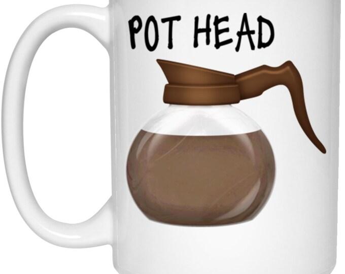 Pot Head 15 oz. White Mug