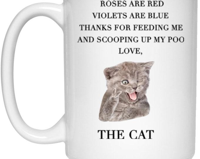 The Cat 15 oz. White Mug