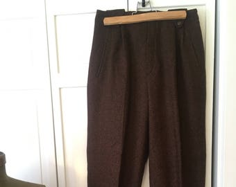 Free shipping Gorgeous fully lined high waisted womens vintage slacks from the 80s w cuffs