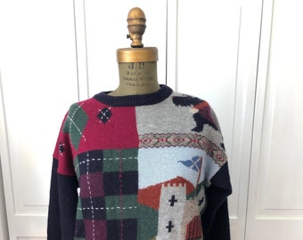 Vintage 80s 90s Golf Motif wool sweater from Tulchan