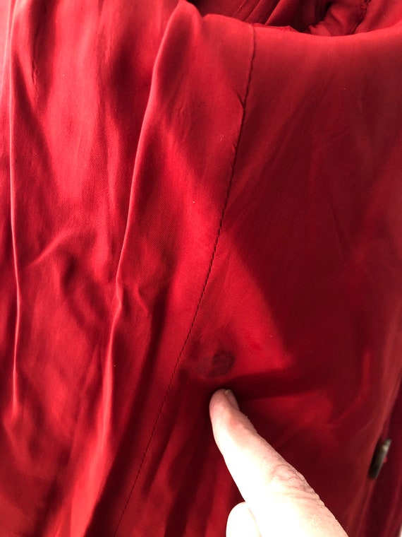 Vintage 70s 80s Ralph Lauren fully lined wool red… - image 9