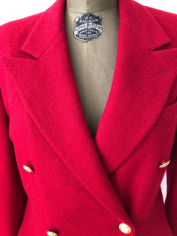Vintage 70s 80s Ralph Lauren fully lined wool red… - image 2