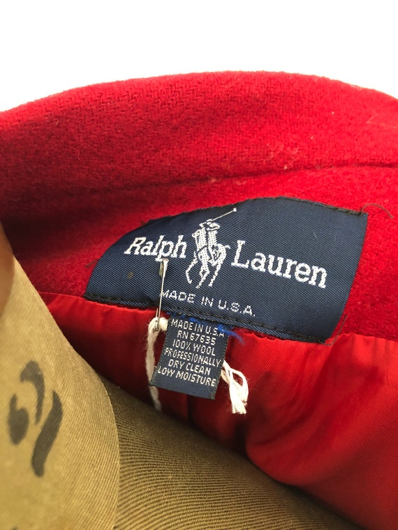 Vintage 70s 80s Ralph Lauren fully lined wool red… - image 7