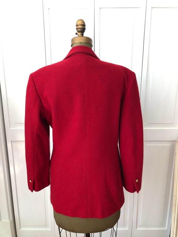 Vintage 70s 80s Ralph Lauren fully lined wool red… - image 5