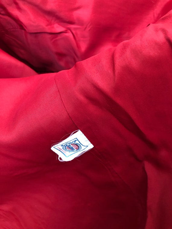 Vintage 70s 80s Ralph Lauren fully lined wool red… - image 8