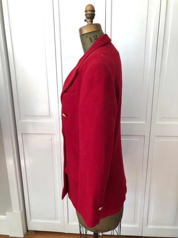 Vintage 70s 80s Ralph Lauren fully lined wool red… - image 4