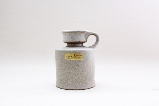 Vintage Italian Handmade Pottery Vase From 70s Ceramica Etsy