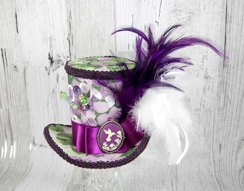 7a39a4d341d Purple White and Green Hummingbird Cameo Empress Collection