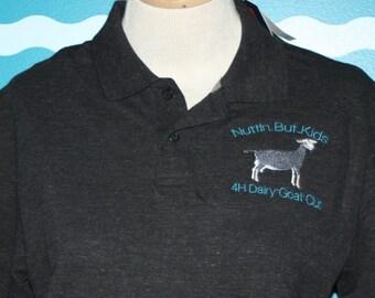 1c2580ff Livestock Polo - Custom Polo Shirt - Dairy Goat Polo Shirt - Personalized Polo  Shirt - Ladies Fitted Polo Shirt - Custom Embroidered Polo