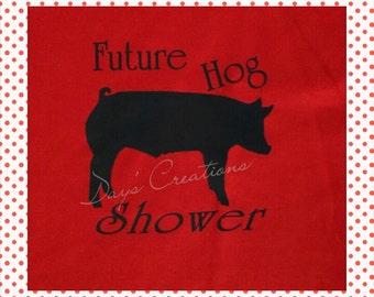 Youth graphic tee, Future hog shower, Youth pig show tshirt, Future livestock shower