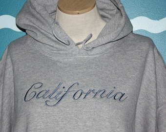 State Hooded Sweatshirt - California Hoodie Sweatshirt - Custom Embroidered Hooded Sweatshirt - Custom Embroidery - Design your own Shirt